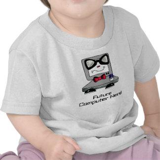 Camisa futura do geek do nerd do computador para t-shirts