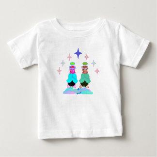 Camisa gêmea do bebê dos anjos