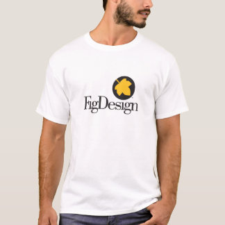 Camisa geométrica do logotipo da folha de