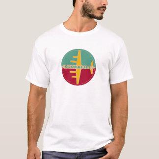 "Camisa ""GlobalJet "" da idade T do jato do vintage"