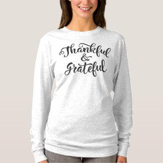 Camisa grata e grata da luva da acção de graças |