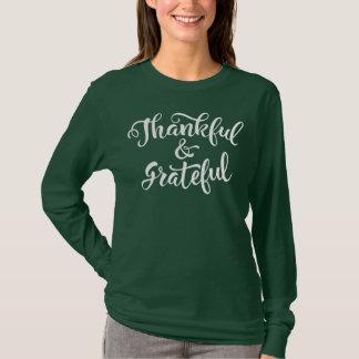 Camisa grata e grata da luva da acção de graças  
