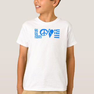Camisa grega da juventude da bandeira da paz do