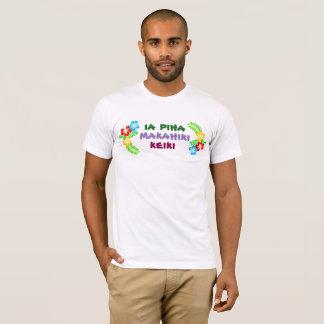 Camisa havaiana do aniversário do menino