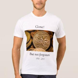 Camisa ida moeda de um centavo