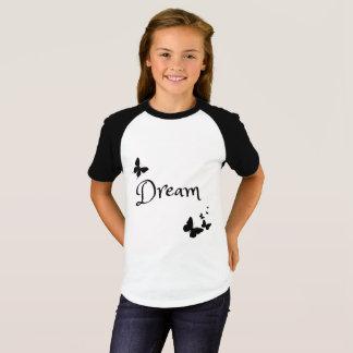 Camisa ideal da borboleta das meninas