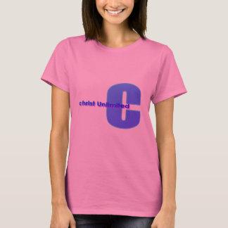 Camisa ilimitada do rosa T do cristo
