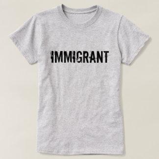 Camisa imigrante do protesto do Anti-Trunfo