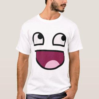 Camisa impressionante da cara do homem do smiley