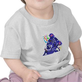 Camisa infantil azul de Terrier de pitbull T Tshirts