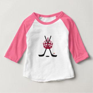 Camisa infantil do rosa T da princesa bebê do