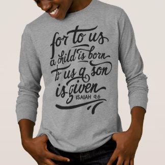 Camisa inspirada da luva do verso | da bíblia do