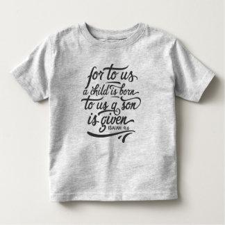 Camisa inspirada do verso | da bíblia do Natal