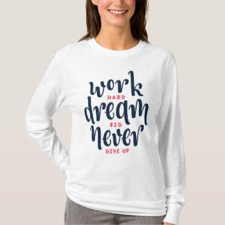 Camisa inspirada e inspirador da luva de Quot  