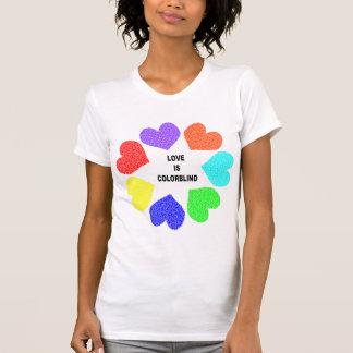 Camisa inter-racial das senhoras T dos corações do Tshirts