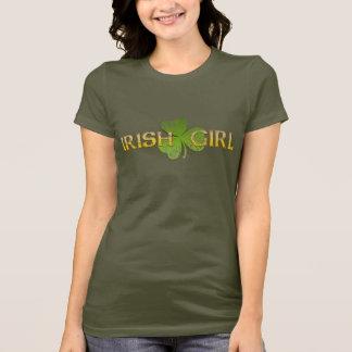Camisa irlandesa da menina t