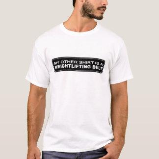Camisa irónica do levantamento de peso