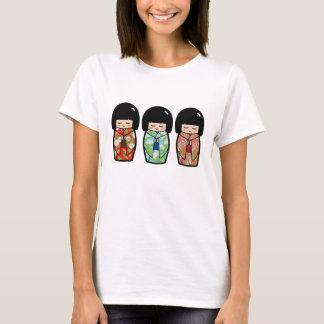 Camisa japonesa da boneca do trio de Kawaii