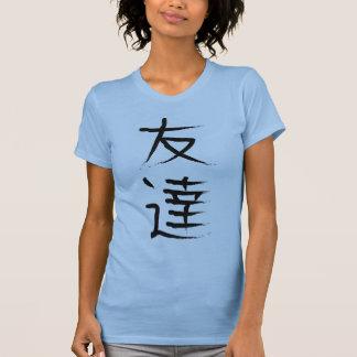 Camisa japonesa do Kanji da amizade