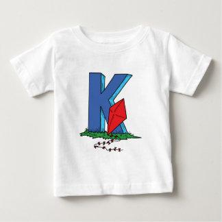 """Camisa """"K """" do alfabeto Tshirt"""