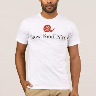 Camisa lenta do logotipo da comida NYC