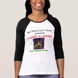 Camisa lírica da ópera Hansel e do Gretel da costa