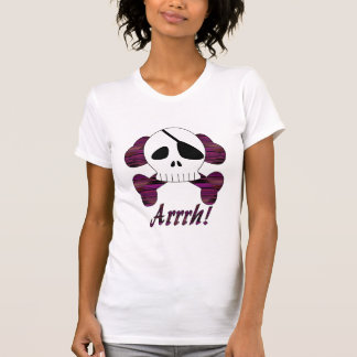 Camisa listrada do crânio do pirata de Arrrh do T-shirts