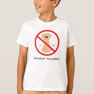 Camisa livre da alergia do amendoim