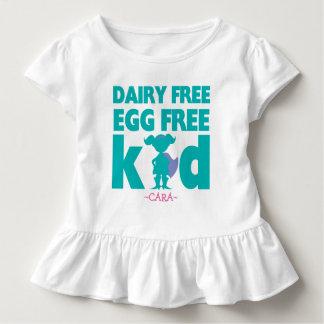 Camisa livre do super-herói da menina do alerta da