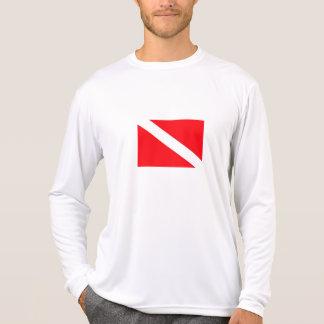 Camisa longa da luva da bandeira do mergulho