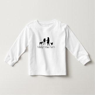 Camisa longa da luva da criança