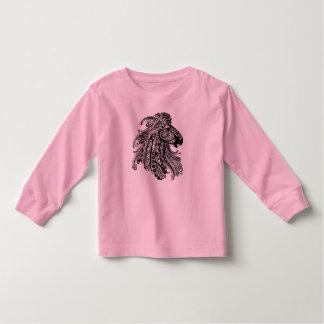 Camisa longa da luva da criança cor-de-rosa com camisetas