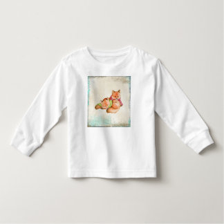 Camisa longa da luva da criança do Fox