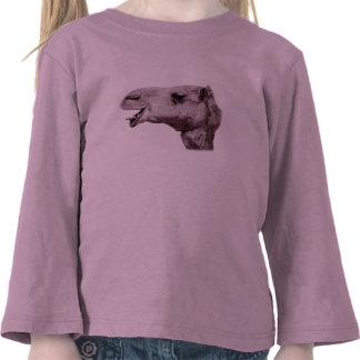 Camisa longa da luva da criança feliz dos camelos tshirts