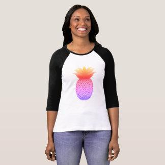 Camisa longa da luva da felicidade do abacaxi
