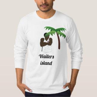 Camisa longa da luva da ilha dos garçons