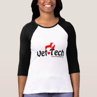 camisa longa da luva da tecnologia do veterinário t-shirt