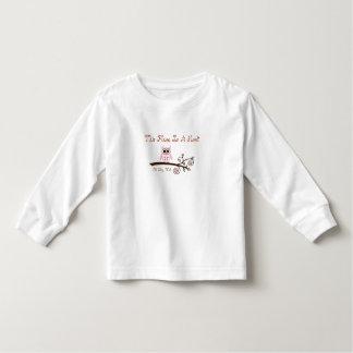 Camisa longa da luva das meninas t-shirts