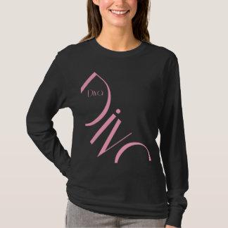 Camisa longa da luva das mulheres da diva