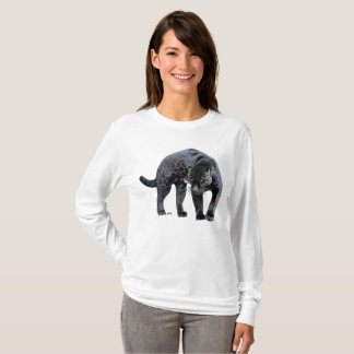 Camisa longa da luva das mulheres de Jaguar Diablo