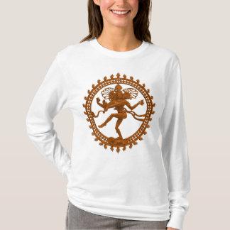 Camisa longa da luva das mulheres de Shiva da