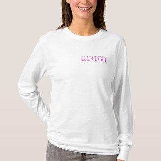 Camisa longa da luva das mulheres do cargo do