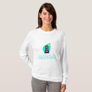 Camisa longa da luva das mulheres Islandwide do
