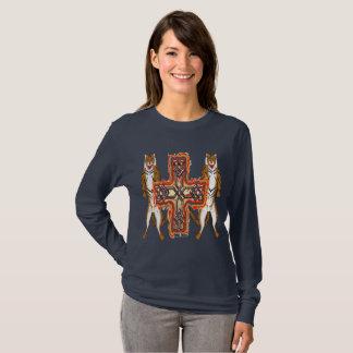 Camisa longa da luva das senhoras da cruz do Celt