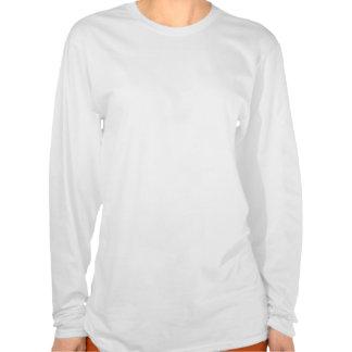 Camisa longa da luva de 7 senhoras do domínio do p camiseta