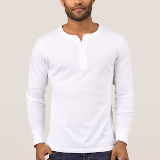 Camisa longa da luva de Henley das canvas dos home Camisetas