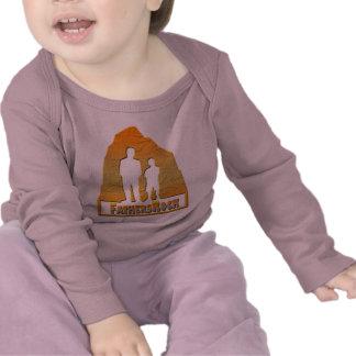 Camisa longa da luva do bebê da rocha dos pais camiseta