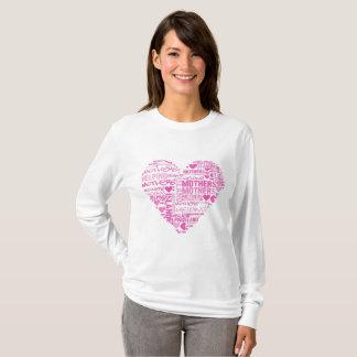 Camisa longa da luva do coração de IMHM