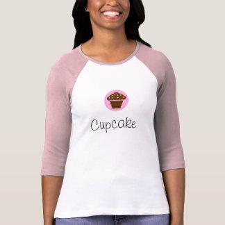 Camisa longa da luva do cupcake