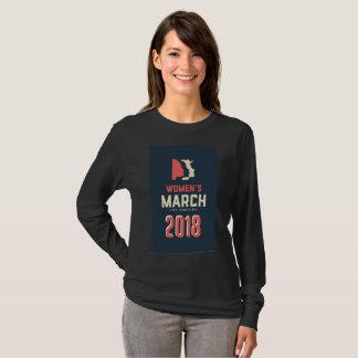 Camisa longa da luva do LA 2018 do março das